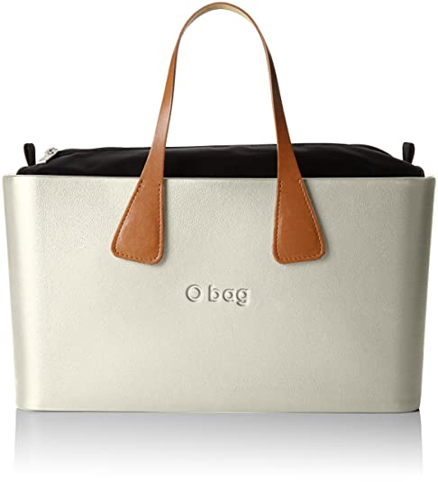 O bag - Octy11_octysi10, Bolsos de mano Mujer, Bianco (Avorio), 36x20x16