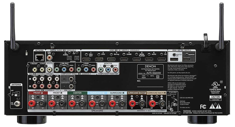 Amazon.com: Denon AVR-S920W 7.2 Channel Full 4K Ultra HD AV Receiver with  Bluetooth & WIFI: Home Audio & Theater