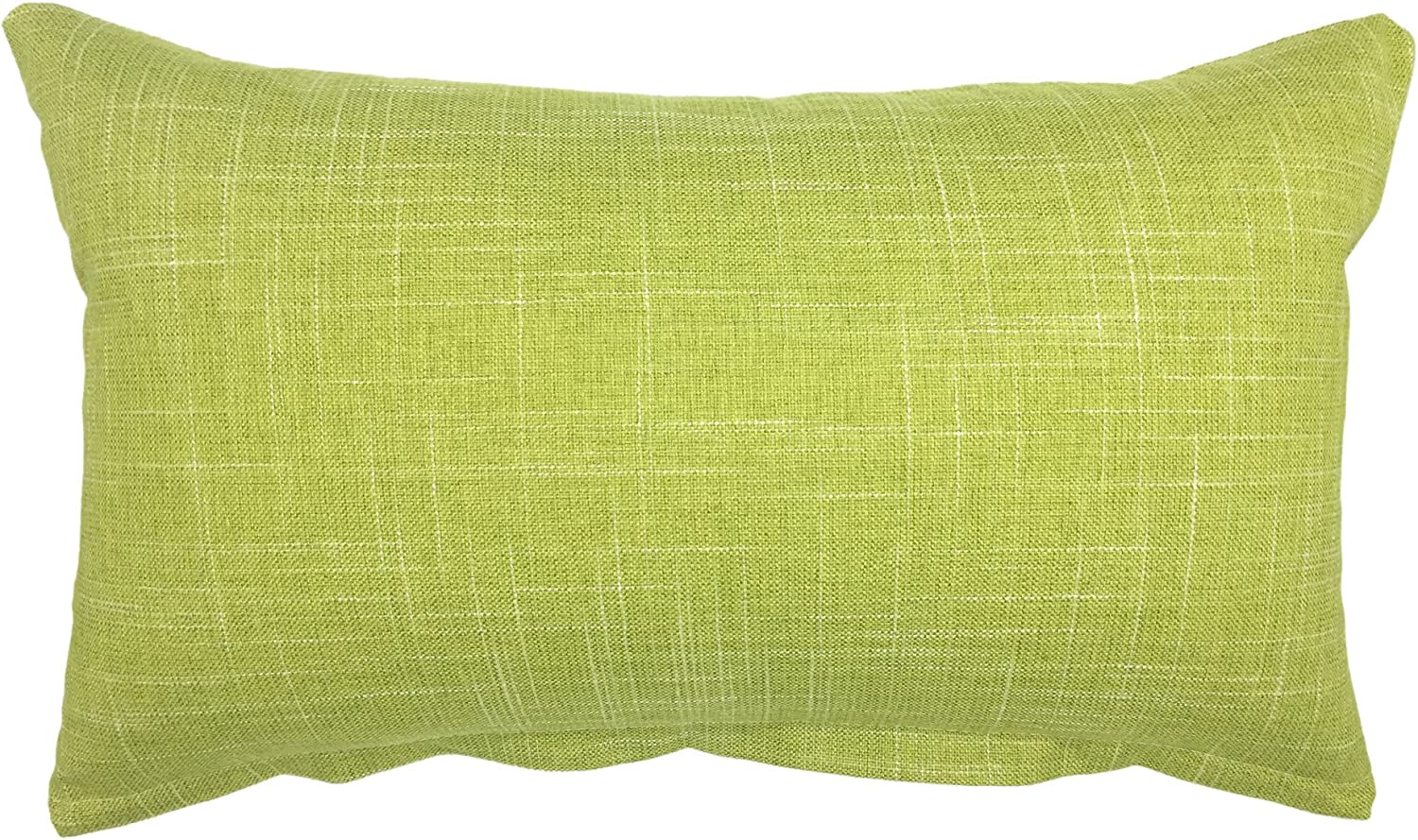 YOUR SMILE Solid Color Oblong Rectangle Decorative Cotton Linen Throw Pillow Case Cushion Cover Lumbar Pillowcase for Couch Sofa Bed,12 x 20 Inches,Green
