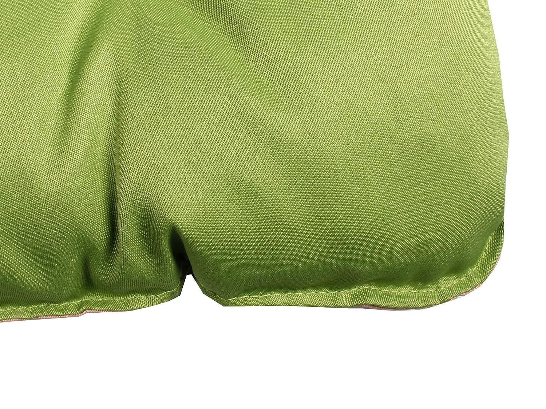 Meerweh Cojines Acolchados para Banco de 2 plazas Color Verde//Beige 120/x 50/x 10/cm