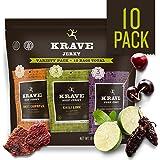 KRAVE Jerky Variety Pack, 10 Count, Beef & Pork