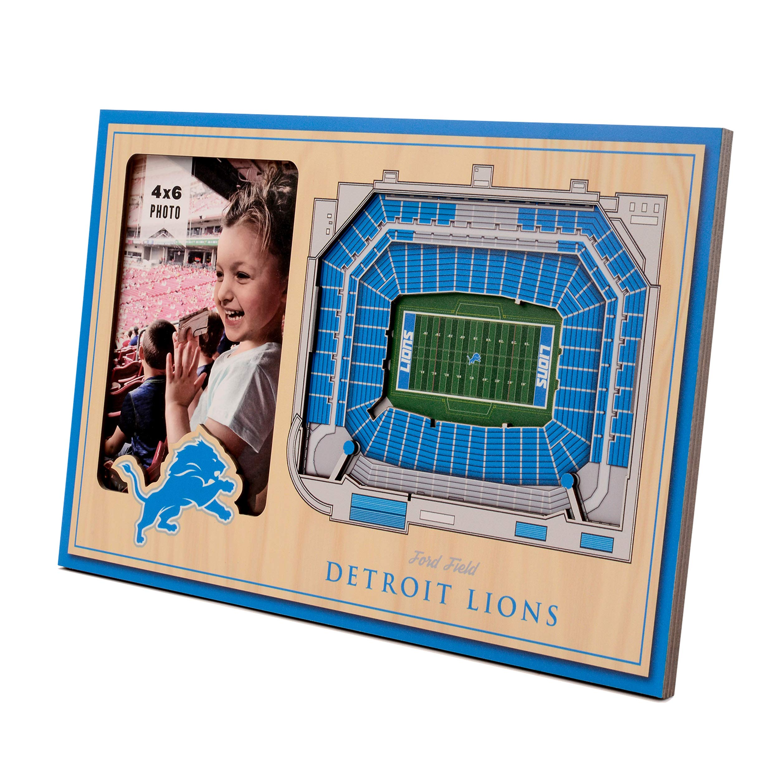 NFL Detroit Lions 3D StadiumViews Picture Frame by YouTheFan