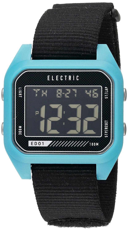 Amazon.com: Electric Unisex EW0110020057 ED01 Digital Display Japanese Quartz Black Watch: Watches