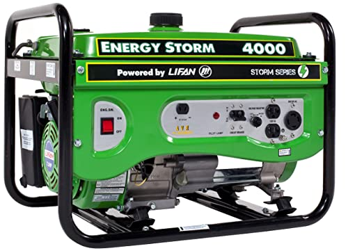 Lifan Energy Storm ES4000 4000 Watt 7 HP OHV 211cc 4-Stroke Gas Powered Portable Generator