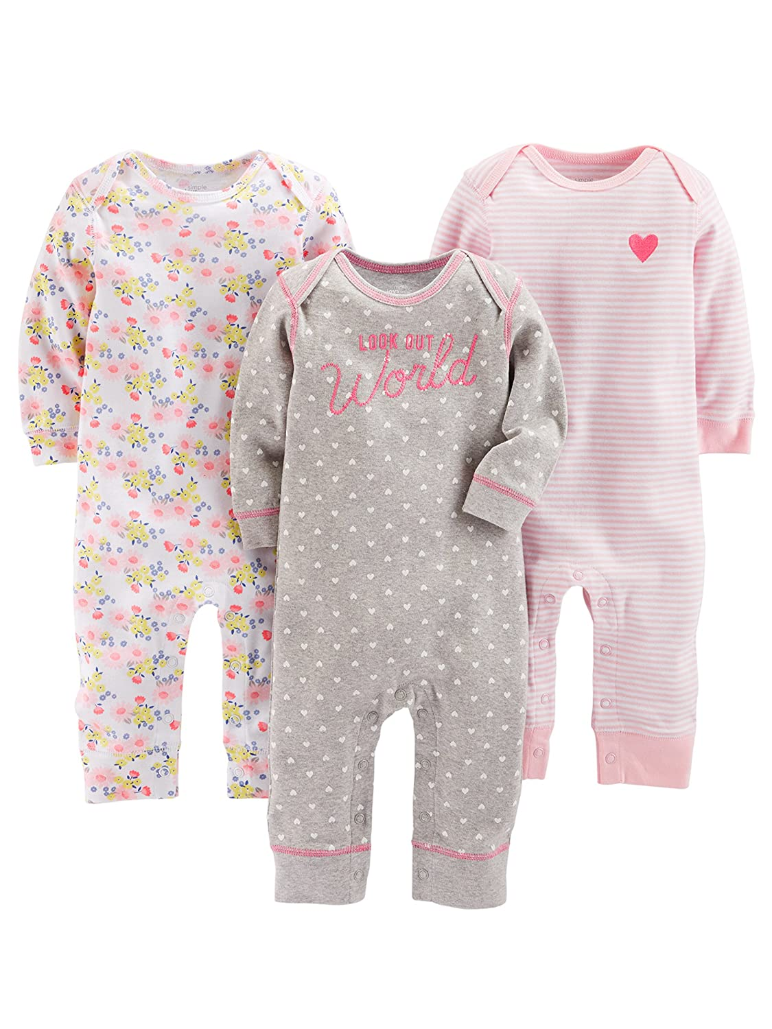 0a7e69b78 Online Cheap wholesale Simple Joys by Carters Girls 3-Pack Jumpsuits,  Footies & Rompers Suppliers