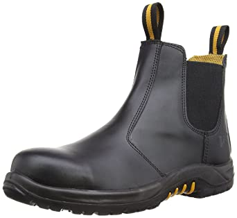V12 Safety Footwear VR609 Colt Black Dealer Boot with Composite Toe Cap and  Steel Midsole S1P