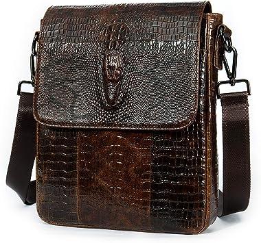 2 Set male Leather Shoulder Bags Brand Wallet Business Crossbody men money bag