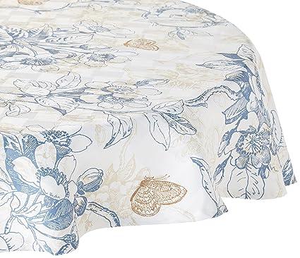 Amazoncom Bardwil Cherry Blossom 60 X 84 Oval Tablecloth Home