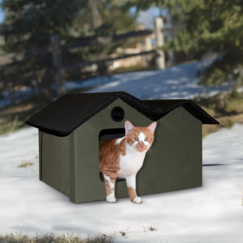 Amazon.com: Caseta para gatos para exterior, extra ancha ...