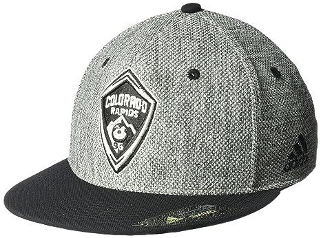 uk availability ae747 41e32 ... italy mls colorado rapids mens heathered gray fabric flat visor flex hat  small medium 17c3a aad08