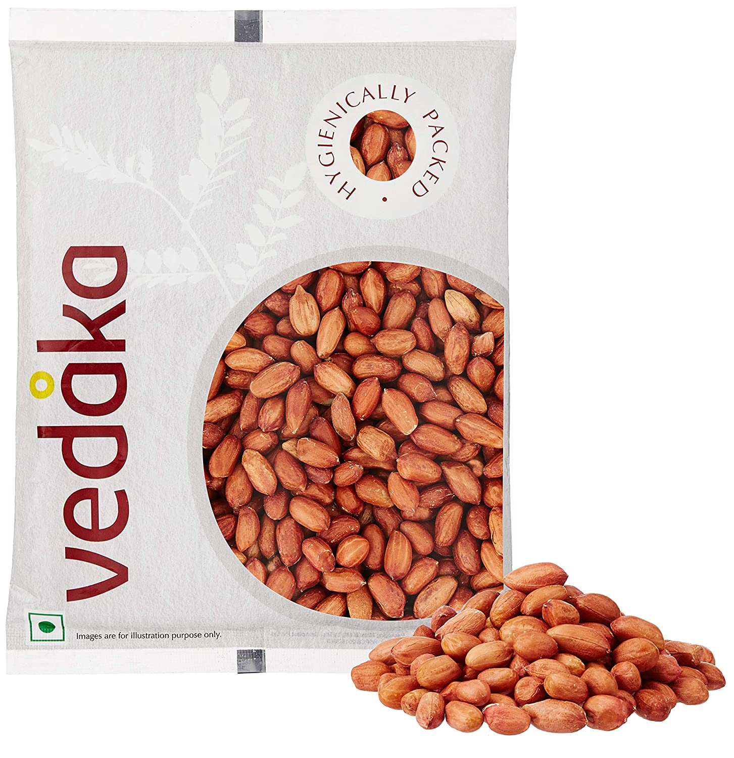 Vedaka Raw Peanuts, Red, 500g
