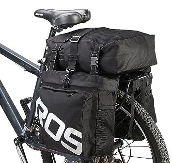 8b88596bf89 DCCN Alforja para Bicicleta Trasera Bicicleta Trasera para Bicicleta de  Equipaje Grandes Rack Impermeable Asiento Trasero Bolsa de Transporte Verde  Militar ...