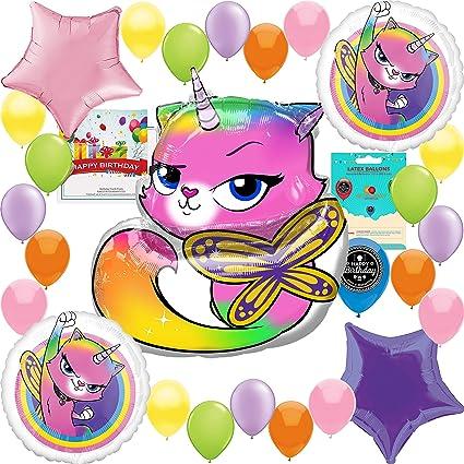 Amazon.com: Juego de decoración de globos de cumpleaños con ...