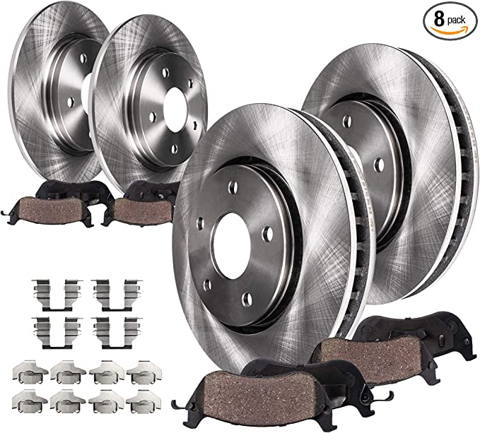 Front Brake Rotors /& Metallic Pads Fit Toyota Camry 2002-2006 4Cyl /& 6 Cyl LE