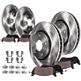 Detroit Axle - Front And Rear Disc Brake Rotors + Ceramic Brake Pads w/Hardware Replacement for 2001-2007 Town & Country…