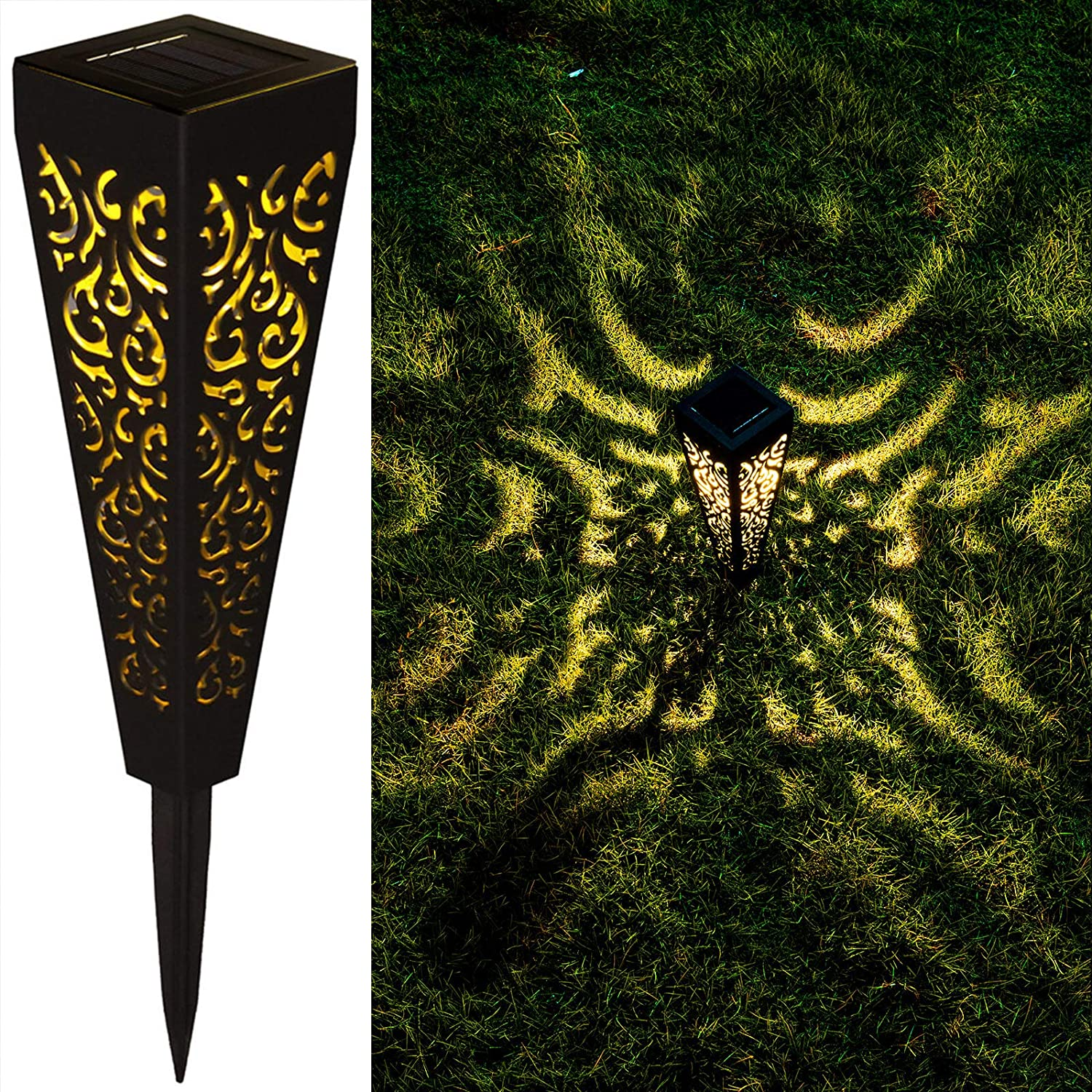 Details about  /LED Solar Pathway Landscape Garden Fence Lawn GroundFloorWall Lamp Light NEW