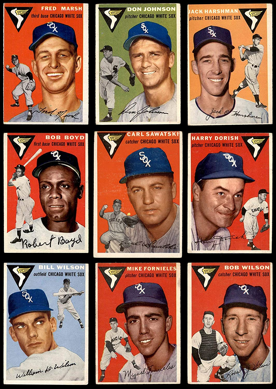 1954 Topps Chicago White Sox Team Set Chicago White Sox (Baseball Set) Dean's Cards 3.5 - VG+ White Sox 91NyTSSe1LLSL1500_