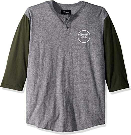 Brixton Wheeler II Tee Heather Grey Brixton Men/'s Clothing T-Shirts