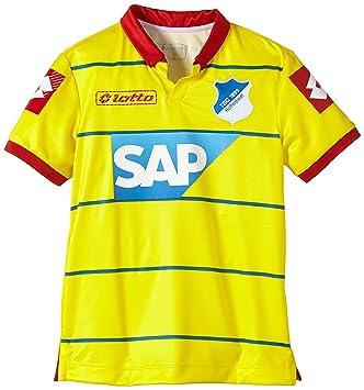 Lotto Hoffenheim - Camiseta juvenil de fútbol (manga corta), diseño visitante amarillo amarillo