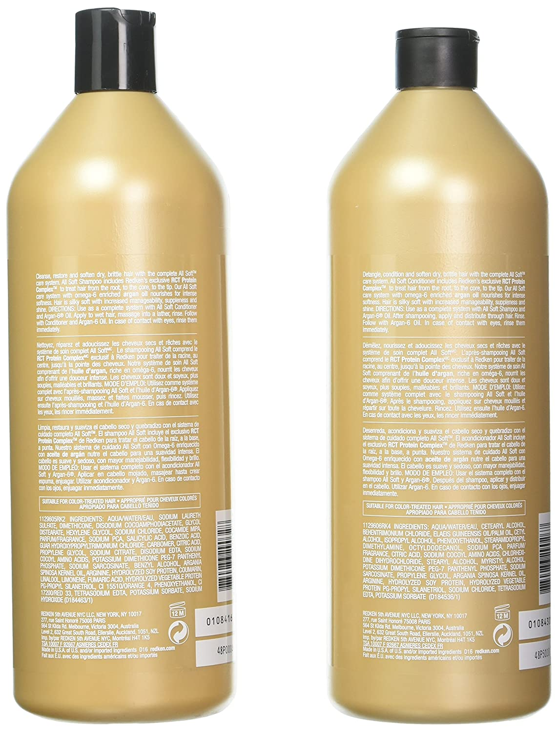 Redken All Soft Shampoo and Conditioner Set 33.8oz 1 Liter