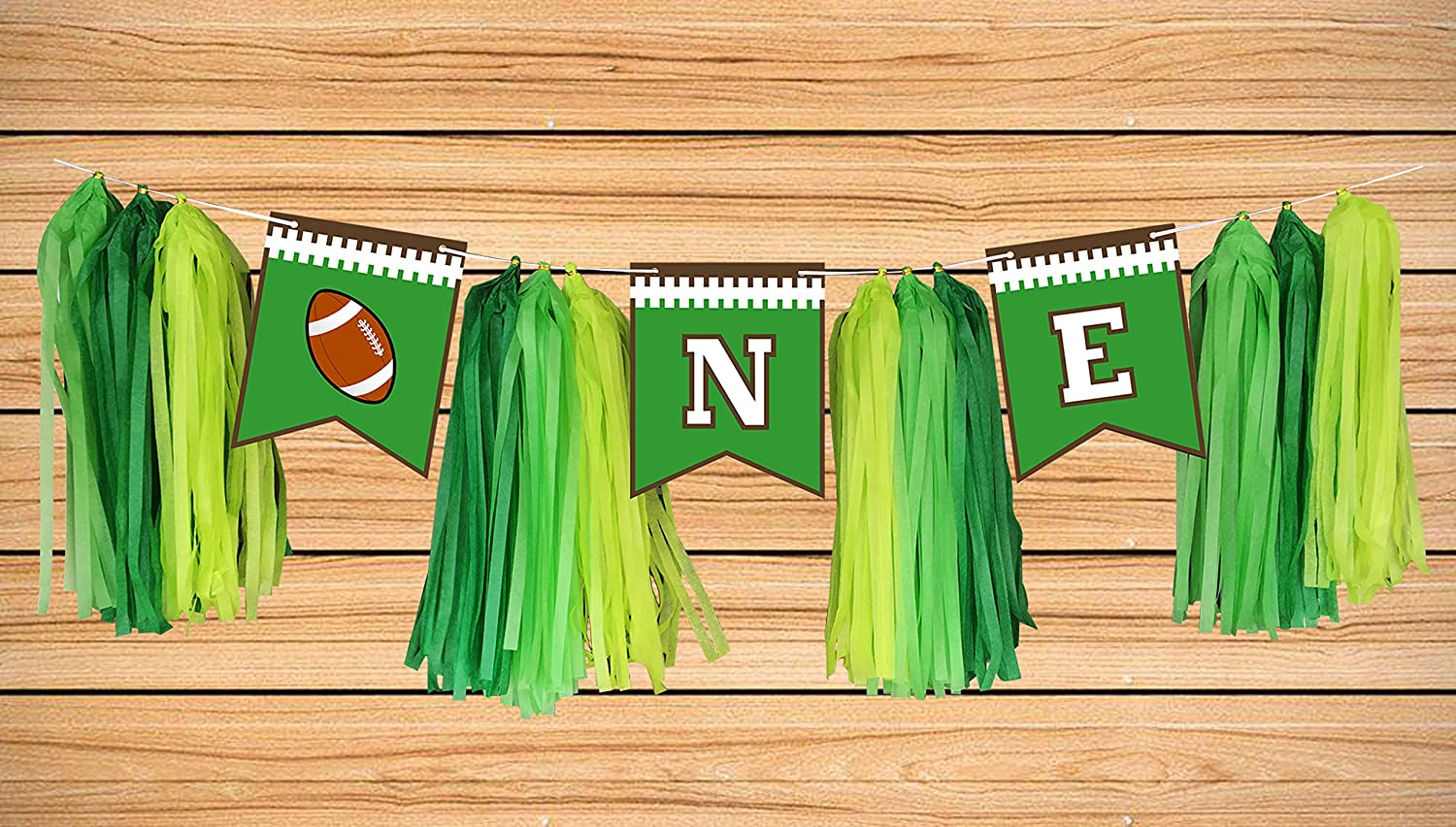 Maplelon Football Highchair ONE Birthday Banner | 1st First Bday Party Decoration