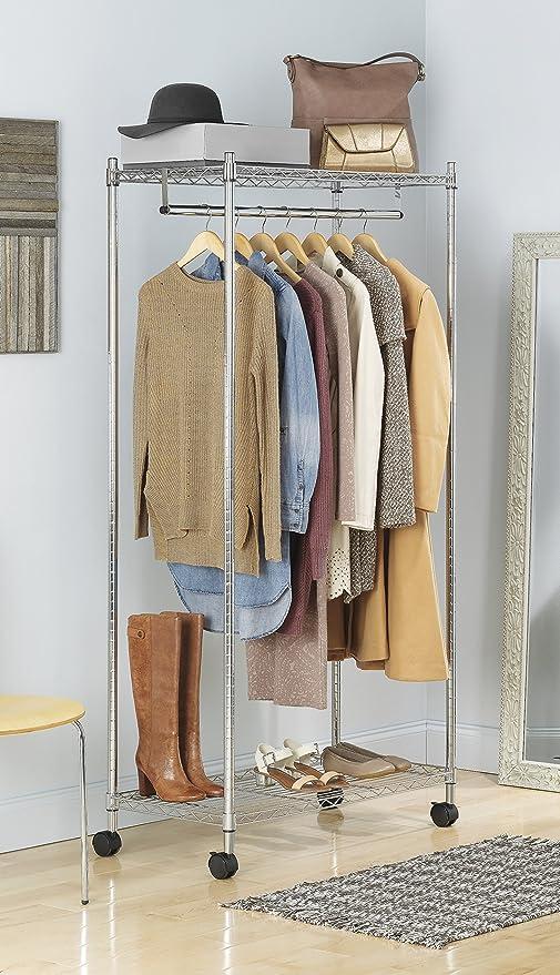 Amazon.com: Whitmor Supreme - Estantería doble para ropa ...
