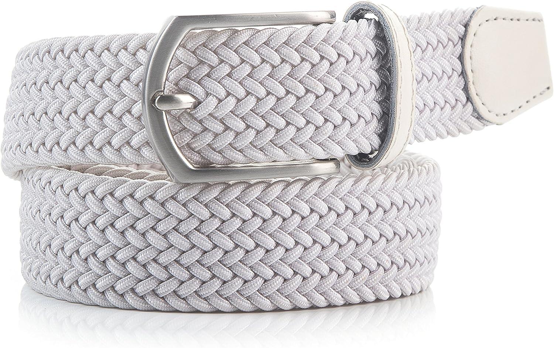 Weifert Mens Stretch Woven 1.3 Wide Elastic Braided Belts