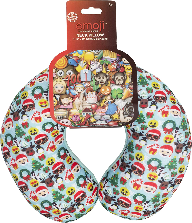 Emoji Travel Blue Neck Pillow for Kids