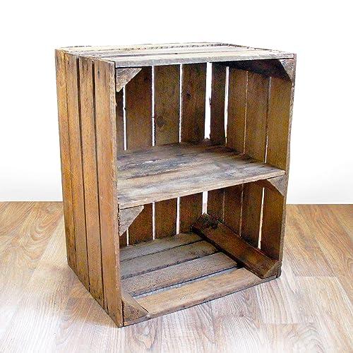 Bookcase Small Wooden Bookshelf Rustic Vintage Wood Short