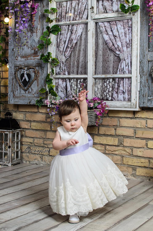 Amazon.com: Ivory Birthday dress, Girl Lace 5st Birthday Dress