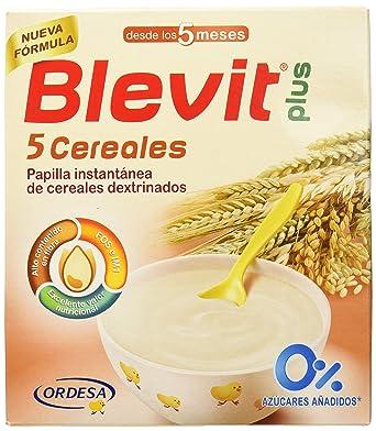 Blevit Plus 5 Cereales para bebé - 2 de 300 gr. (Total 600 gr