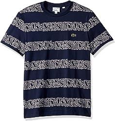 5cc910669a4 Lacoste Men's S/S Printed Stripes Jersey T-Shirt