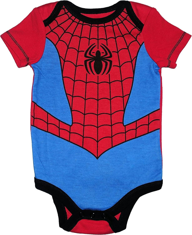 Marvel Spiderman Infants  Baby Bibs Bodysuit /& pants 3pcs set