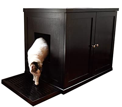 The Refined Feline Reversible Cat Litter Box Enclosure Cabinet