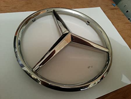 Big Mercedes Benz Star Chrome Emblem Badge Logo Fit 18 Cm Fit Auto