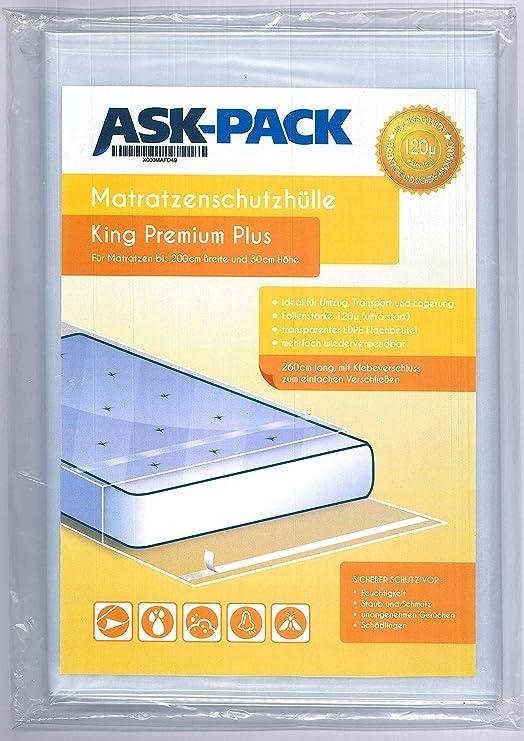 ASK Pack Bolsa de Colchón King Premium para un Colchón hasta 200cm ...
