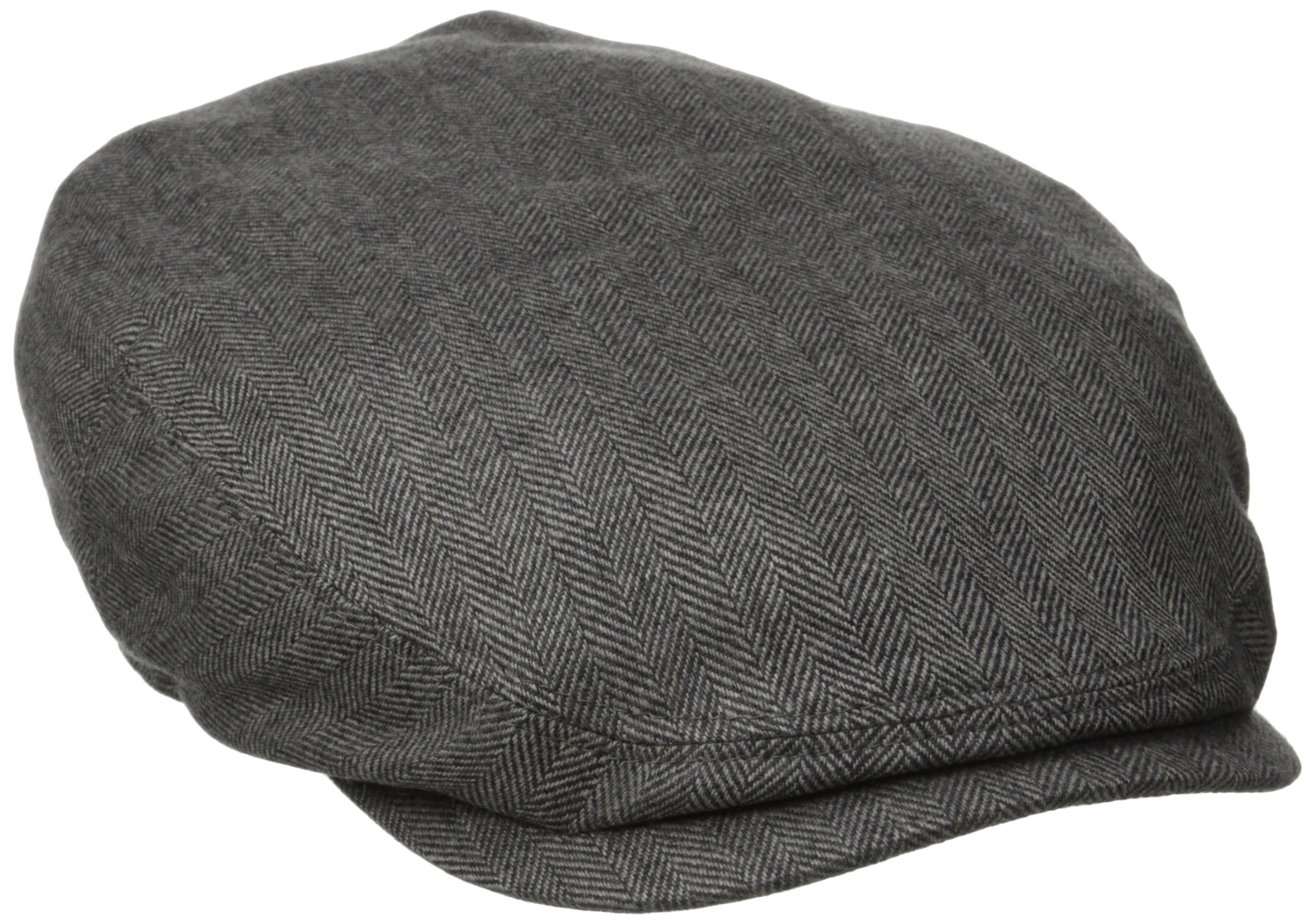 Stetson Men's Cashmere Silk Blend Ivy Cap with Lining, Gray, Large
