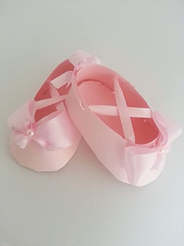 48efb37e0d8 Amazon.com: Set Of Ten Light Pink Ballerina Baby Shower Shoe Favors ...