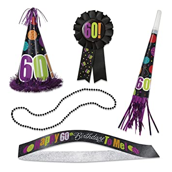 Amazon Birthday Cheer 60th Party Accessories Kit 5pc