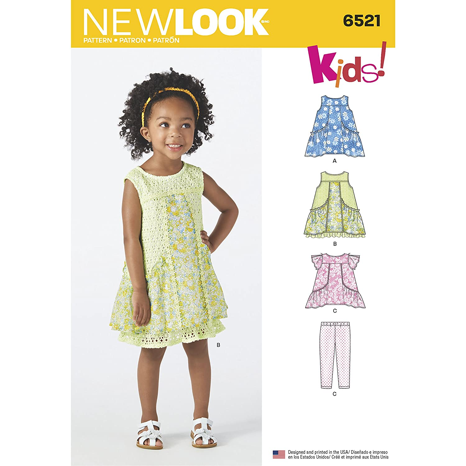 Amazon New Look Sewing Pattern D06066521 Toddler Dress