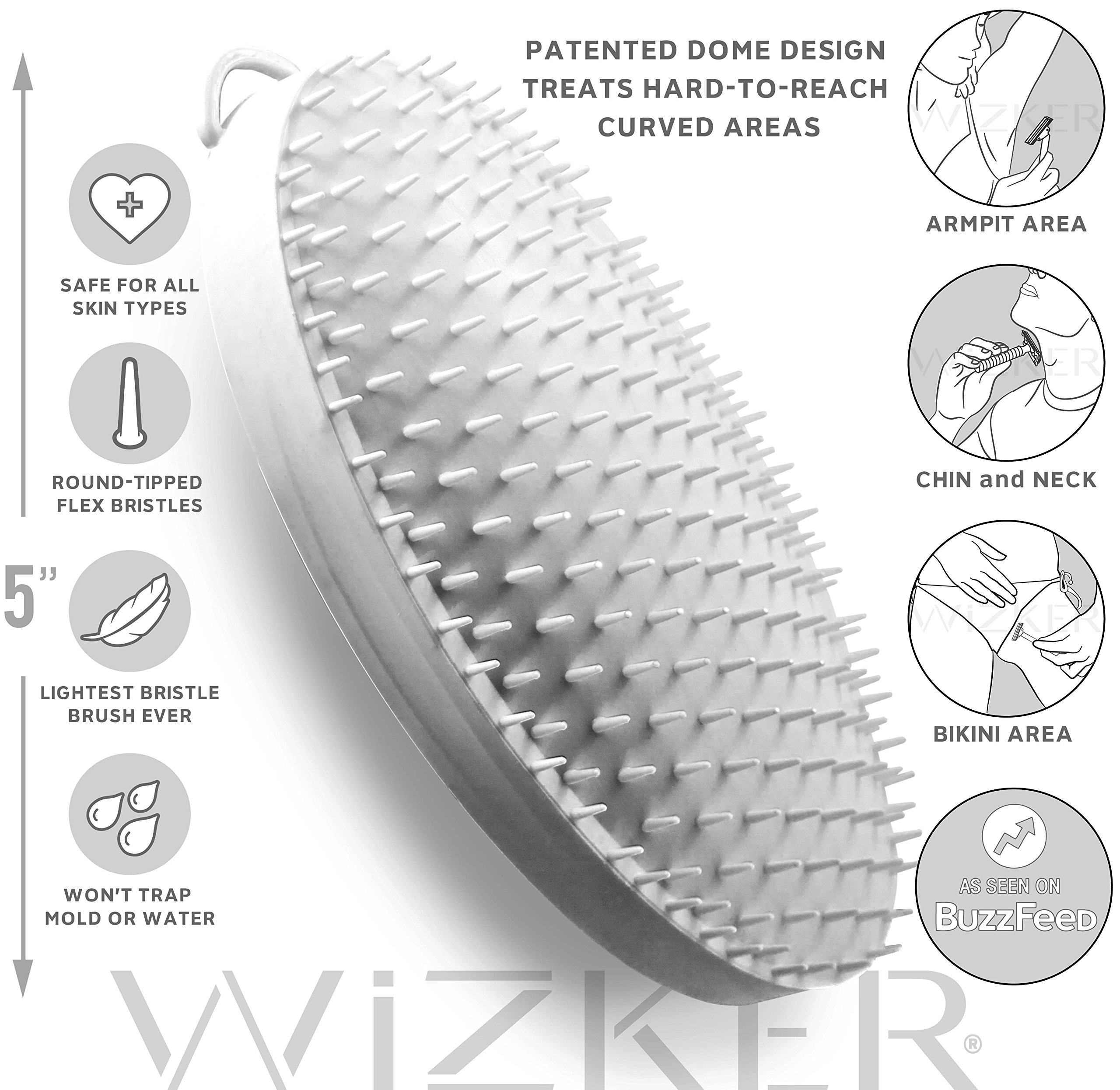 Wizker Brush The Original Ingrown Hair Brush Eliminates Razor Bumps