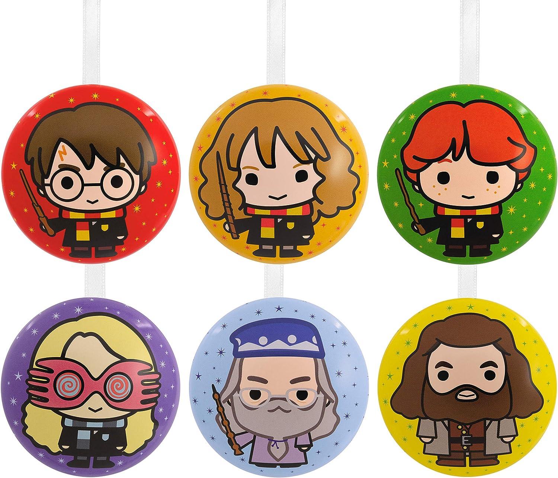 Hallmark Christmas Ornaments, Harry Potter Metal Tins, Set of 6