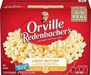 product image for Orville Redenbacher's Light Butter Microwave Popcorn, 2.85 Ounce Classic Bag, 12-Count, Pack of 6