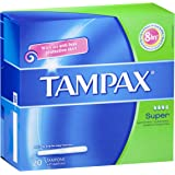 Tampax Super Medium flow tampons with applicator 20 Pack