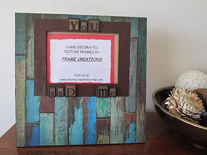 Amazoncom 5x7 You And Me Themed Hand Decorated Picture Frame