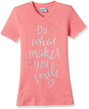 19b0c4d6 Cherokee by Unlimited Girls' T-Shirt: Amazon.in: Clothing & Accessories