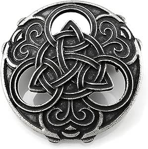 URBANTIMBER Broche Vikingo Triquetra con Nudos celtas - Plata
