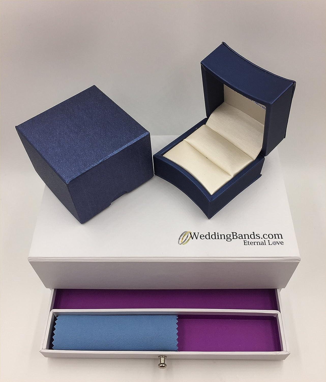 Plain Flat Comfort Fit 3mm Wide wedding-bands 14K Yellow Gold Unisex