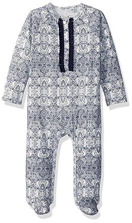Amazon Com Jessica Simpson Baby Girls Printed Footie Clothing