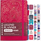 Legend Planner Daily for 3 Months - Undated Deluxe Monthly Weekly & Daily Planner to Hit Your Goals & Live Happier…